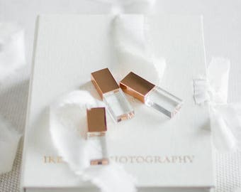 10x 8GB Rose Gold Crystal USB drive 2.0 for Luxury Fine Art Wedding and Portrait Photographers