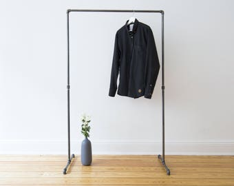 Clothes rail - clothing rack - coat stand - industrial design - steel pipes - fittings