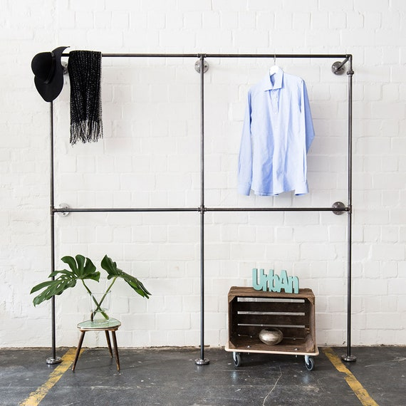 Clothes Stand Open Closet Wardrobe Clothing Rail Etsy