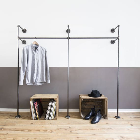 Build Your Own Coat Rack: Open Wardrobe Clothes Rack Clothes Stand Steel Pipe