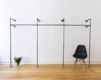 Wardrobe clothing rack closet rack steel pipe