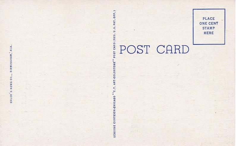 United States Post Office MONTGOMERY Alabama Vintage Linen Postcard