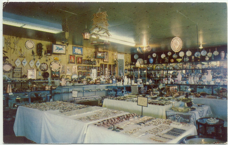 Kitty/'s Antiques /& Copper Store BUTTE Montana Vintage Postcard