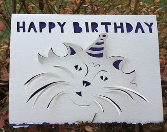 Hand cut-Happy Birthday