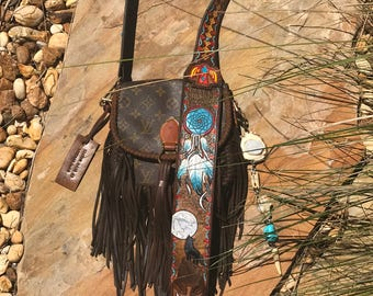 Vintage Swag FRINGED Vintage Louis Vuitton Native American Bag