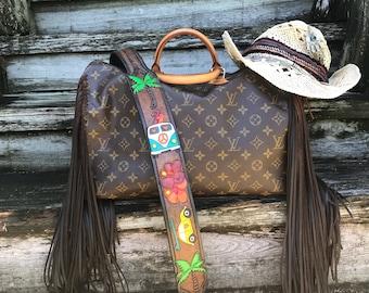 Vintage Swag Fringed Louis Vuitton Beach Bum Bag