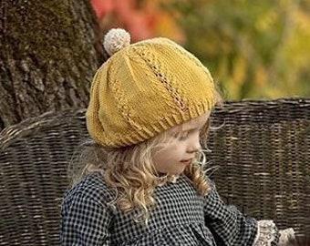 405e4131cd6a0 Burnt Orange Hat French BERET Knit Beret Hat for Kids Toddler Hat Beret for  Girl Hat Lace Beret Knit Tam Photo prop French Beret