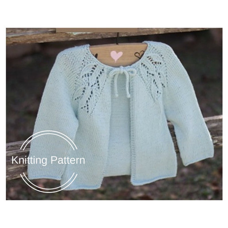 e4fa4d348 Cardigan KNITTING PATTERN Cardigan for Girl Baby Knit Pattern
