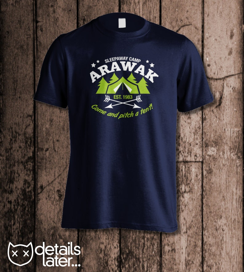 4d77967c2fc7 Camp Arawak Men s tee Inspired by Sleepaway Camp