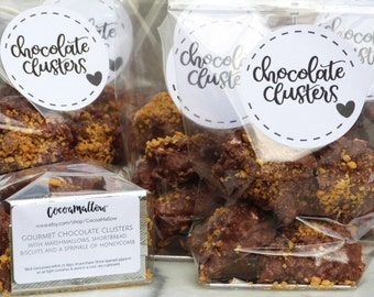 Chocolate & marshmallow biscuit clusters