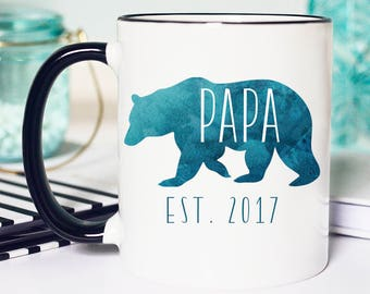 New papa Bear Mug, Mug Pap Bear, Papa Bear Mug, New Dad Papa Bear Mug, Papa Bear Gift, Coffee Mug Papa Bear,Bear Mug for Papa, Papa Bear