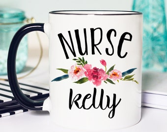 Nurse Mug, Nurse Gifts, Personalized Mug, Gifts for Nurse, Nurse Coffee Mug, Nurse Appreciation, Custom Mug, Registered Nurse Mug, Nurse Cup