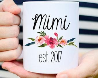 Mimi to be Mug, Mimi Mug, Mimi Gifts, pregnancy announcement grandparents, pregnancy reveal to grandparents, grandmother mug, grandma mug