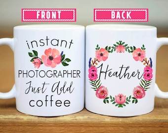 photographer mug etsy