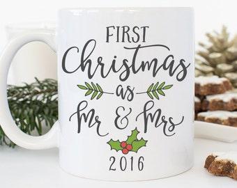 Our First Christmas as Mr and Mrs Gift, Our First Christmas as Mr and Mrs, Our First Christmas Mug, Newlywed Christmas Gift, Coffee Mug