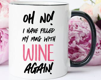 This Might be Wine Mug, Funny Wine Mug, This Might Be Wine Cup, This is Probably Wine Mug, Funny Wine Mug for Coworker, Funny Wine Birthday