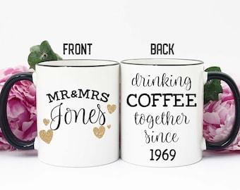 50th Anniversary Gift, Gift for 50th Anniversary, 50th Anniversary Gift for Parents, 50th Wedding Anniversary, Golden Anniversary, Mug