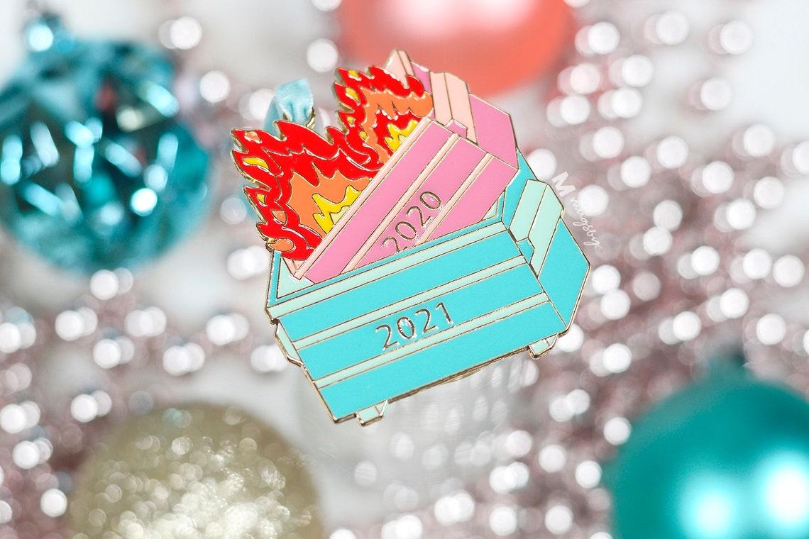 Christmas Ornament Dumpster Fire Ornament 2021 Dumpster image 3