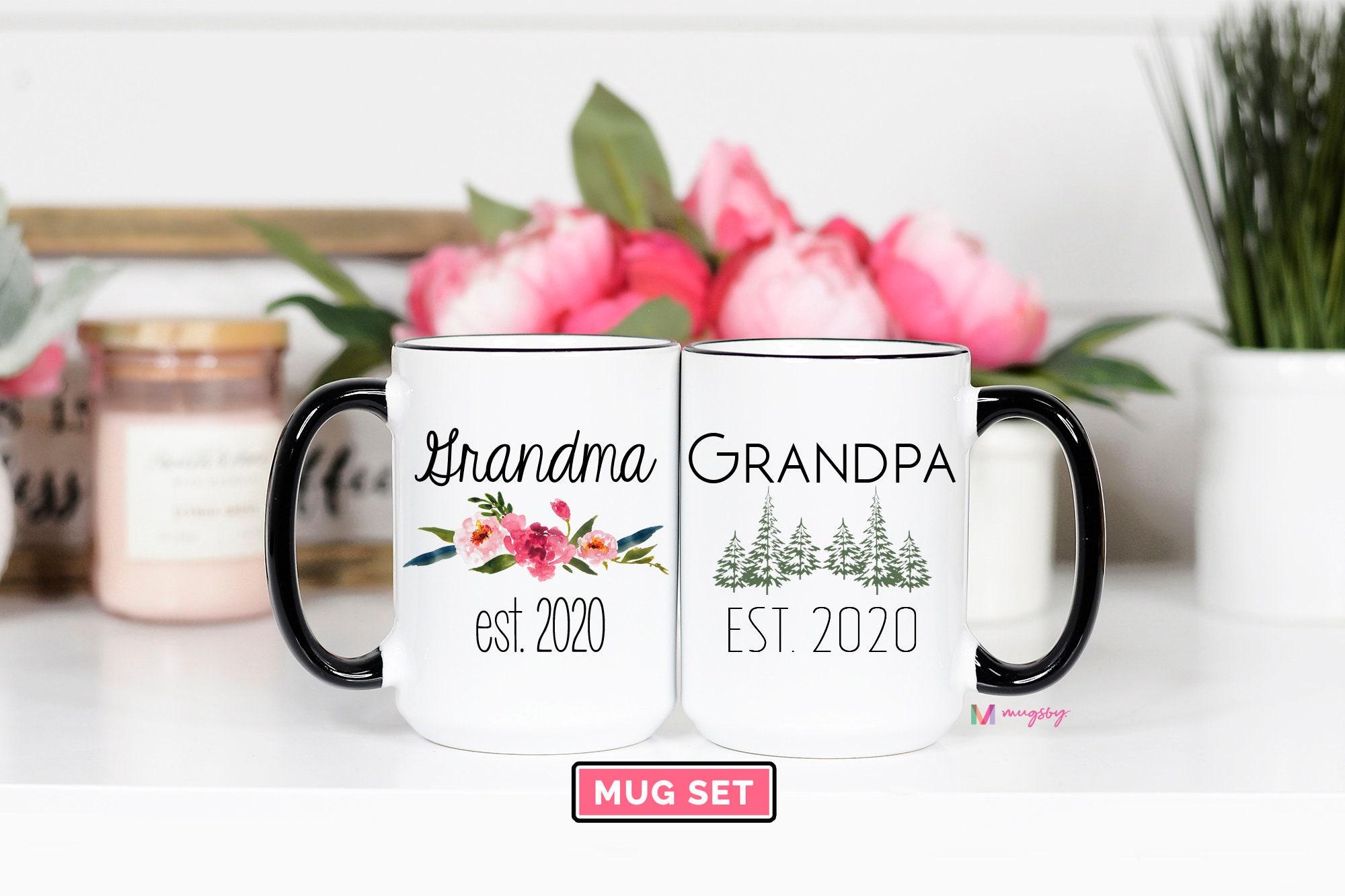 Worlds Best Grandma Est 2020 Mug Pregnancy Announcement 2020 New Grandma Mug