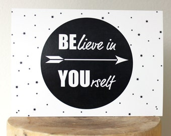 Motivational cards, quote card, positive card, compliment card, believe in yourself, good luck card, success card, quote card, insiprational