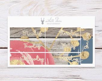 Planner Stickers | Date Covers - Sweet Florals | Erin Condren Vertical
