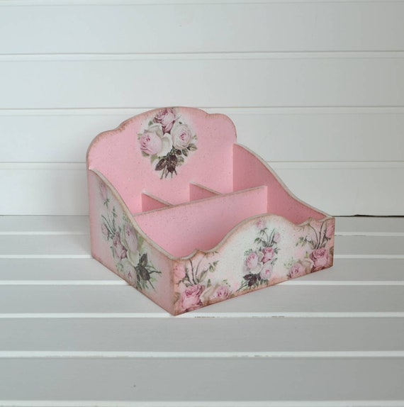 Shabby Chic Makeup Organizer Desk Accessories Wooden Floral Etsy,Where To Find Houses For Rent