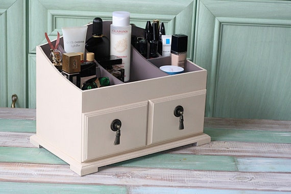 Vanity Organizer, Chest Of Drawers Wood, Makeup Storage, Gift For Women  Dressing Table Mini Commode For Cosmetics, Desk Accessories