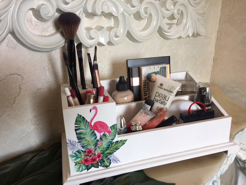Groovy Flamingo Makeup Holder Desk Organizer Romantic T For Women Office Accessories Wood Living Room Decor Brush Storage Bird Download Free Architecture Designs Licukmadebymaigaardcom