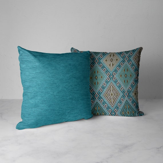 Set of 2 Luxury 18x18 Decorative pillows Housewarming Gift for her Luxury Throw Pillows Throw Pillow Covers Zippered Throw Pillow Cover
