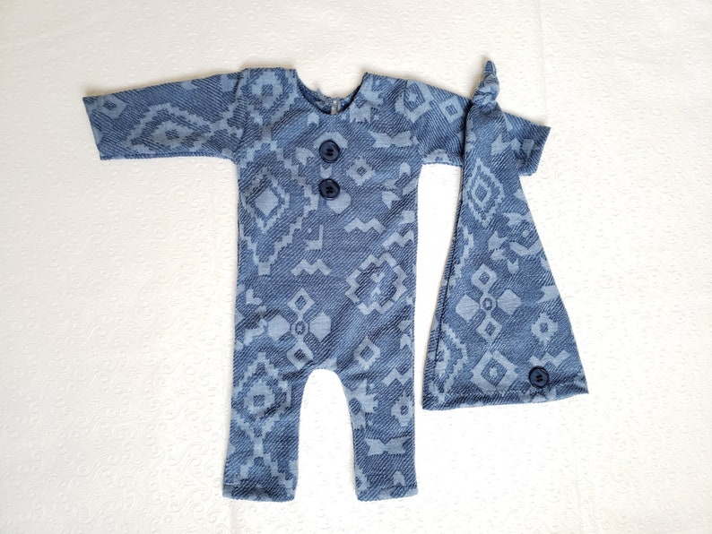 d5b914ee4 Newborn boy photo outfit Newborn blue overalls with sleepy   Etsy