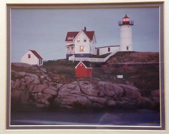 Paul Montecalvo - Nubble Light at York Beach, Maine - Vintage Photo