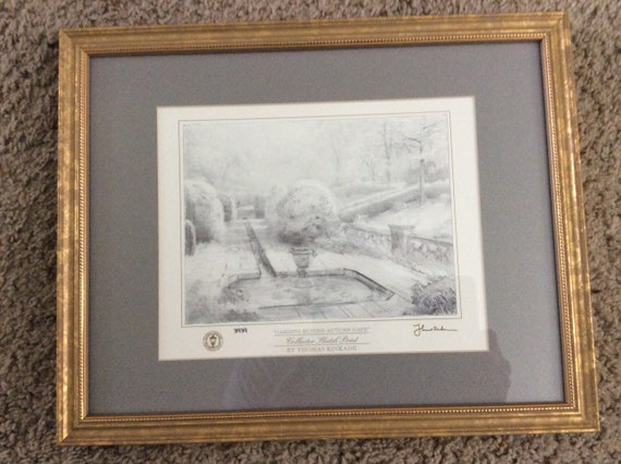 Thomas Kinkade collector sketch print with COA | Etsy