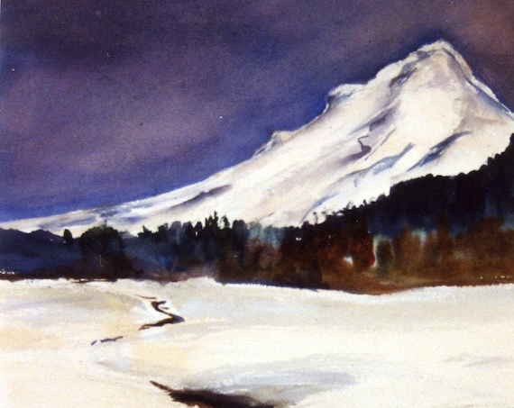 Mount Hood signed print by Bonnie White East Slope of Mt. Hood
