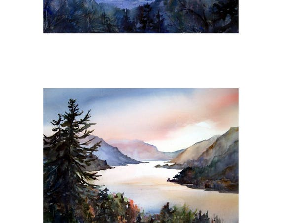 10x16 - 2 signed landscape prints of the Columbia Gorge by Bonnie White