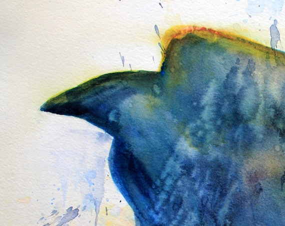 Raven 7 original watercolor painting by Bonnie White
