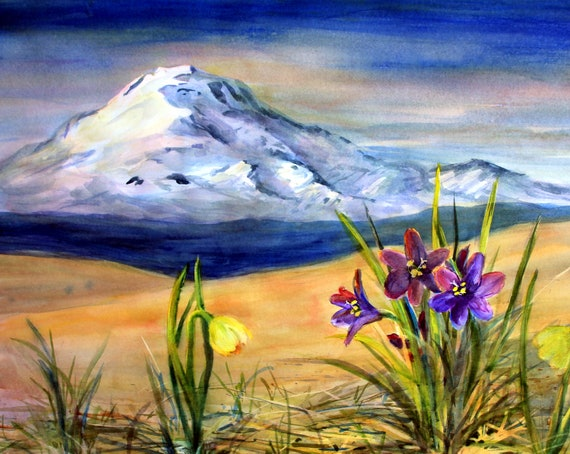 Mt. Adams 89 - signed print of a watercolor by Bonnie White