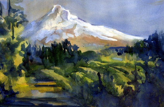 Mount Hood signed print by Bonnie White Mt. Hood 137