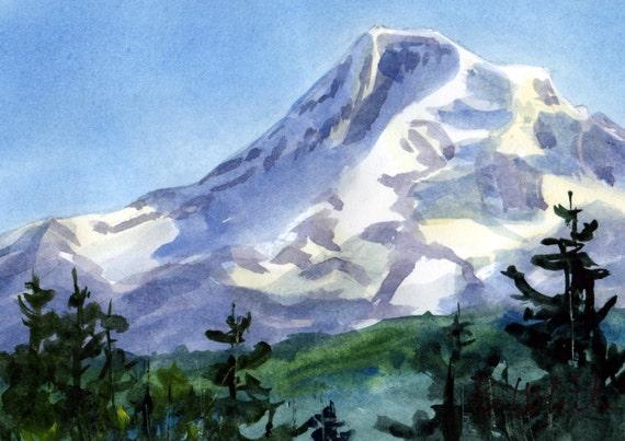 Mt. Hood original #10 - original watercolor painting of Mt. Hood by Bonnie White watercolor artist