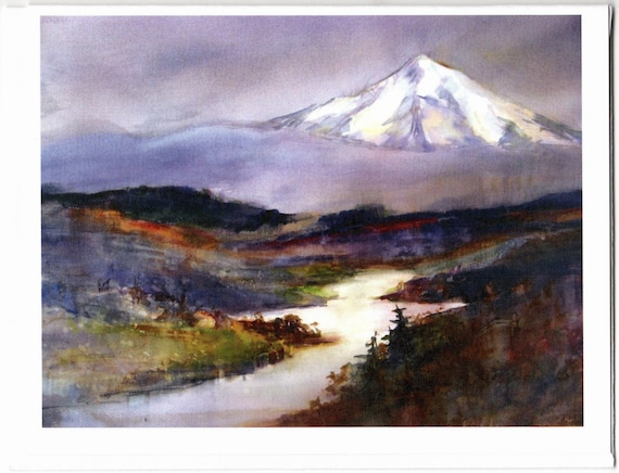 Mt Hood 215 blank note cards with envelopes 4.25x5 inches