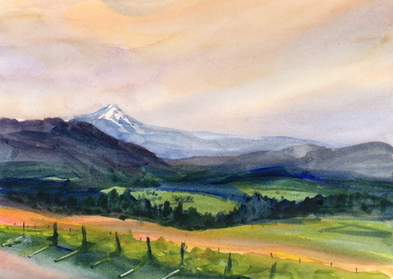 Mount Hood signed print by Bonnie White Mt. Hood 201