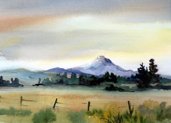 Mt. Adams 81 a print of Mt. Adams from a watercolor by Bonnie White