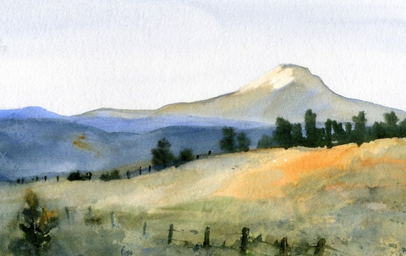 Mt. Adams 42 a signed print of a watercolor by bonnie white watercolor artist