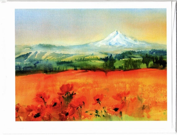 Mt Hood from Goldendale blank note cards with envelopes 4.25x5 inches