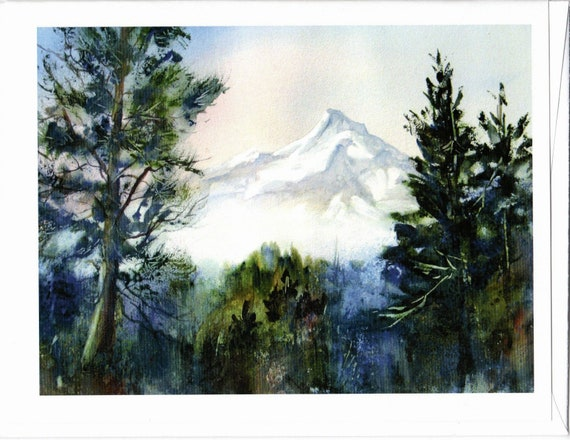 Mt Hood 145 blank note cards with envelopes 4.25x5 inches