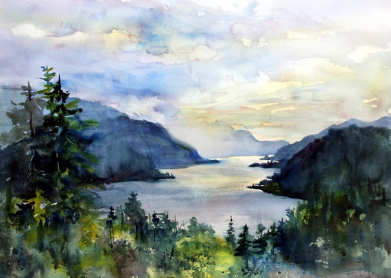 Columbia Gorge print from Hood River Oregon by Bonnie White  Columbia Gorge 308