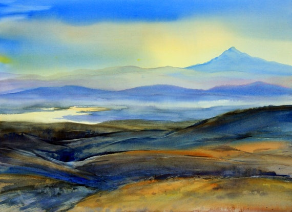 Mt. Hood 159 - signed print of a watercolor painting by Bonnie White.