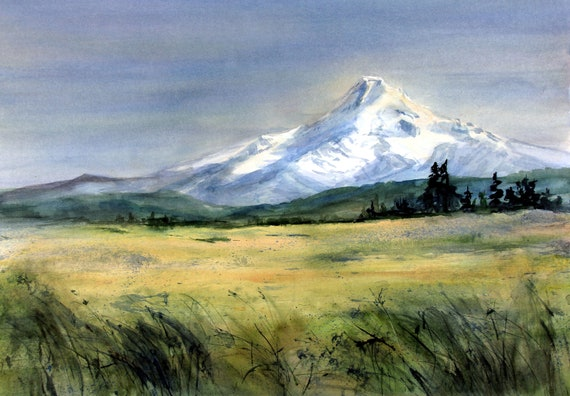 Mt. Hood 289 - signed print of a watercolor by Bonnie White