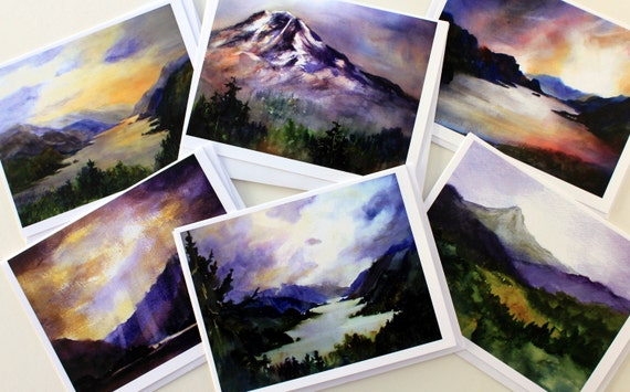 Columbia Gorge 71 - blank note cards - greeting cards - art cards - handmade cards - specialty cards - watercolor - blank cards Bonnie White