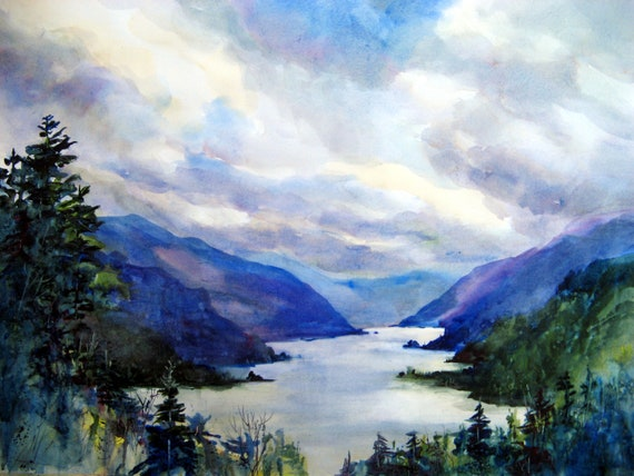 Columbia Gorge signed print 180