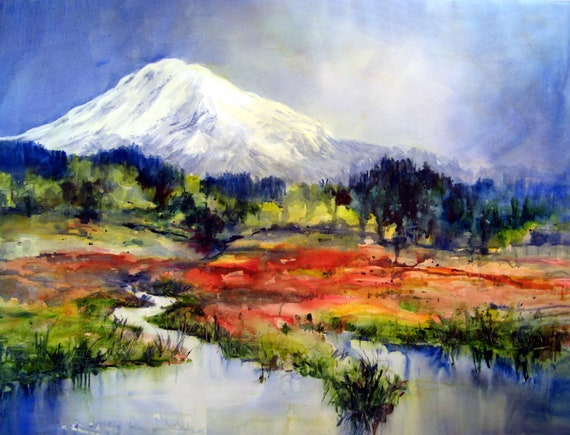 Mt. Adams 73 - a signed print of Mt. Adams by Bonnie White